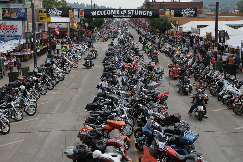 Overhead view of Sturgis® Motorcycle Rally™